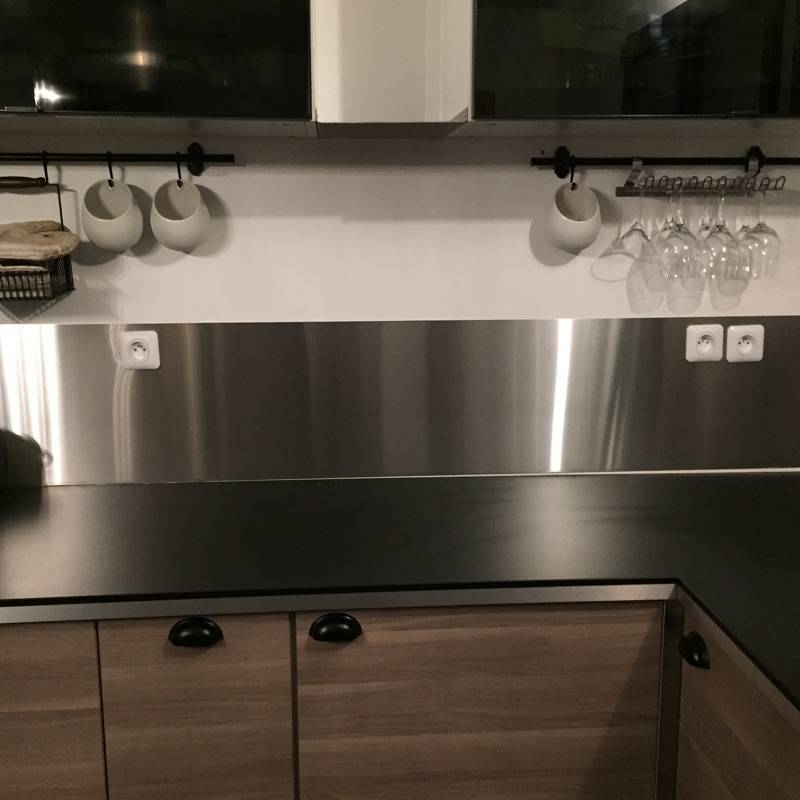 Cr Dences Inox Bross Mobilier Sur Mesure En Metal Inox Alu Dar Bordeaux